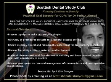 Practical Oral Surgery for GDPs with Dr Ferhan Ahmed