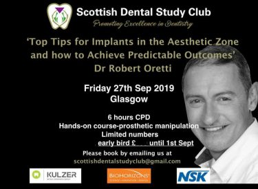 Top tips for Implants in the Aesthetic Zone (Hands-On) with Dr Robert Oretti